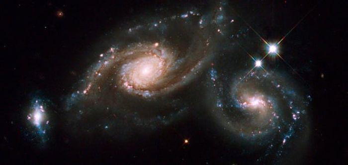 Interacting pair of galaxies called Arp 274
