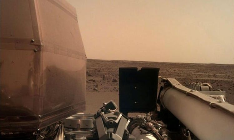 NASA Inside Lander Mars Mission