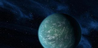 super earth discovery near galaxy centre