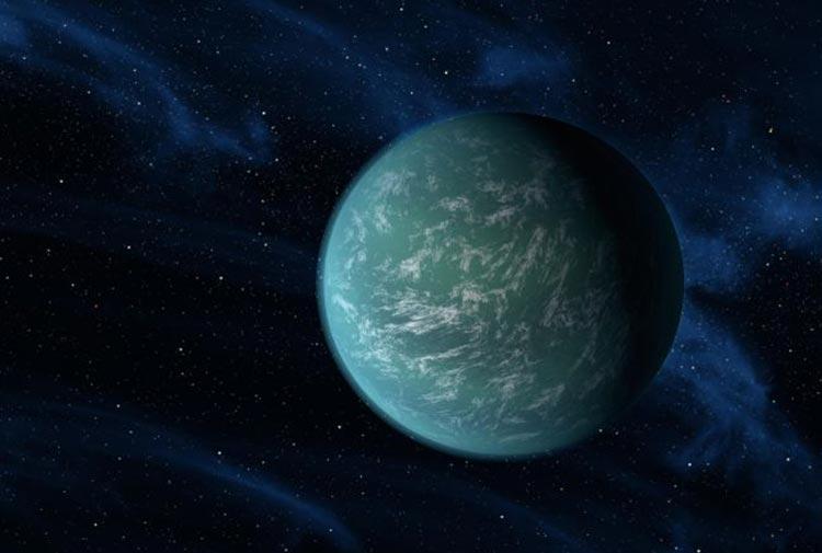 super earth discovery near galaxy centre